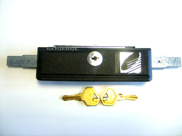 Gliderol/Henderson New Style Garage Door Lock and Face Plate