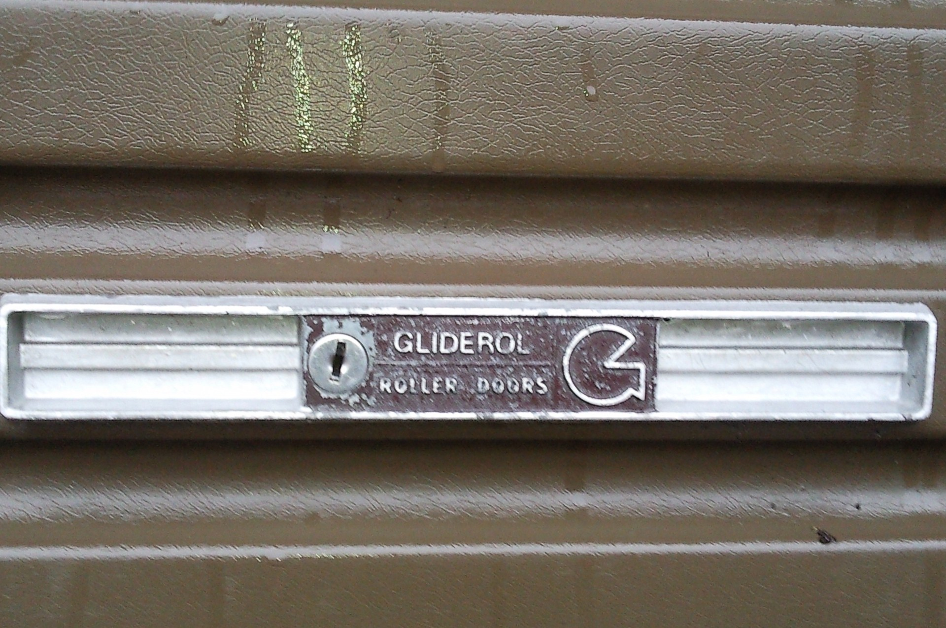 Gliderol Old Style Garage Door Lock and Face Plate